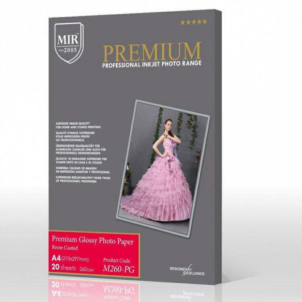 کاغذ پریمیوم گلاسه 260گرم میر