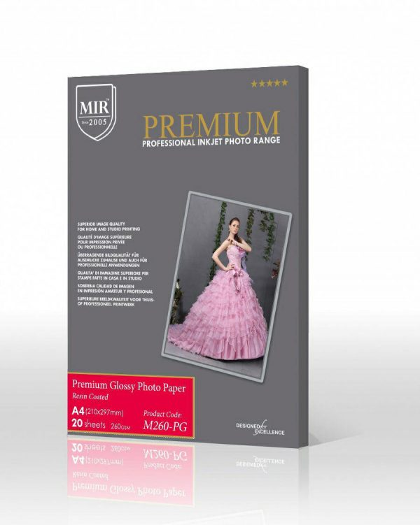 کاغذ پریمیوم گلاسه ۲۶۰گرم میر